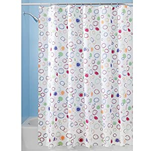 InterDesign Doodle Shower Curtain, 72-Inch by 72-Inch, Bright