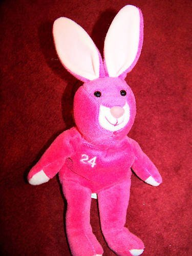 Salvino's Bamm Bunnies Ken Griffey Jr. # 24 Hot Pink Plush Bean Bag Bunny Issued April ()