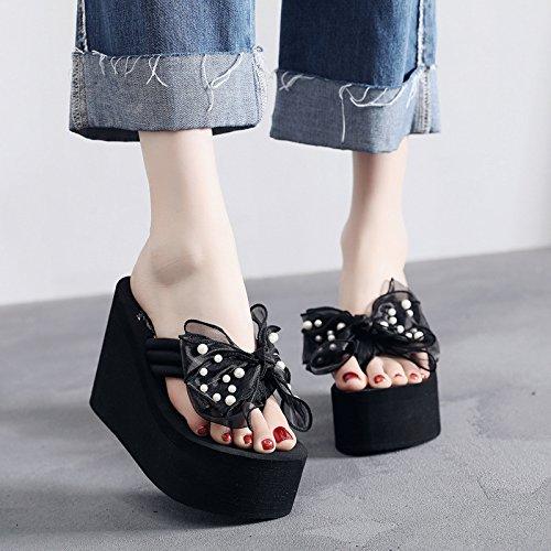 Heel Señoras y de de exterior los los FLYRCX playa height el casual moda tacón verano en antideslizante talones de zapatos calzado 11cm HwwdqpZ