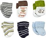 Carter's Hosiery Baby-Boys Infant 6 Pack Terry Wardrobe Socks, Grey, 0-3 Months