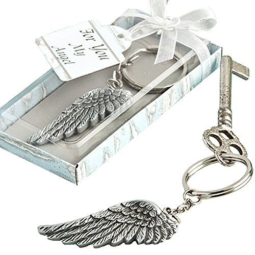 Fashioncraft Angel Wing Key Chain Favor (Set of 3) (Angel Wings Keychain)