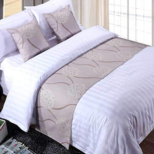 US-ROGEWIN Table Runners1pc Dustproof Bed Flag Double Layer Scarf Bedroom Living Dining Room Hotel Home Decorative