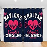 FDASLJ Customized Blackout Window Curtains Jac Naylors Couples Councelling Holby Bristol Grommet Thermal Insulated Room Darkening Drape for Bedroom Living Room 52 X 72 Inch, 2 Panels