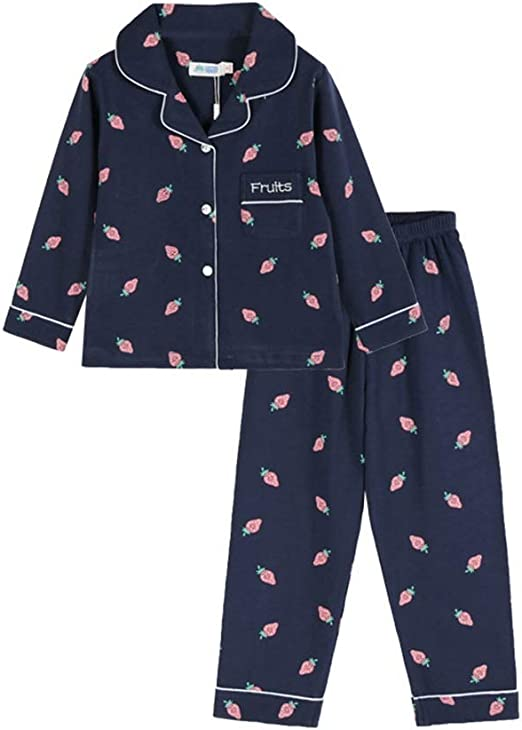 Camisones Pijamas Pijamas para niñas Ropa de Dormir de Manga Larga para niños Algodón Dulce Estampado
