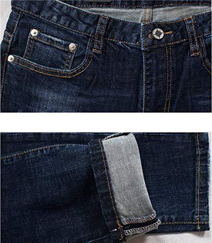 Slim Estilo Casual Blaublack Con Jeans Especial In Uomo Fit Da Pantalone Strappato Stile Vintage Strappati Elastico OvwTnqU