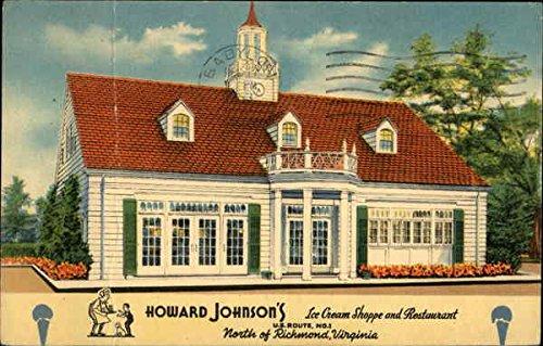 Johnsons Ice Cream Howard (Howard Johnson's ice Cream Shoppe and Restaurant Richmond, Virginia Original Vintage Postcard)