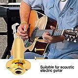 "Guitar Endpin Output Jack 6.35mm 1/4"" Metal Button"