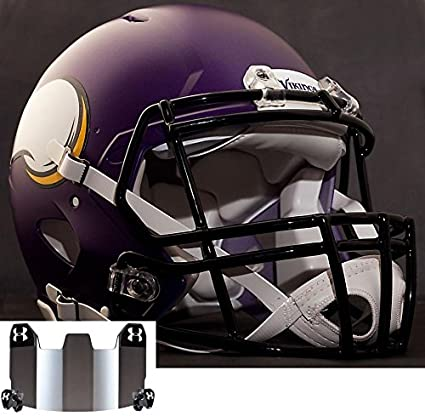 f0c04d15f64 Image Unavailable. Image not available for. Color  Riddell Speed Minnesota  Vikings NFL Authentic Football Helmet ...