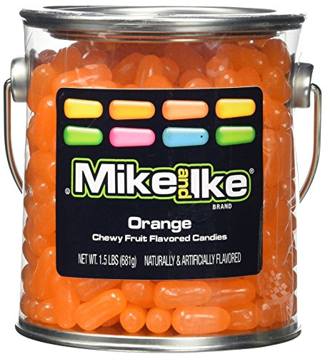 mike-and-ike-party-pail-black-label-candy-orange-15-pound