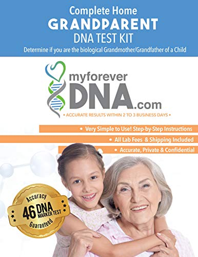 Grandparent DNA Test Kit ▪ Most Advanced & Accurate-46 DNA (Genetic) Marker Test ▪ All Lab Fees Included ▪ Offered by My Forever DNA
