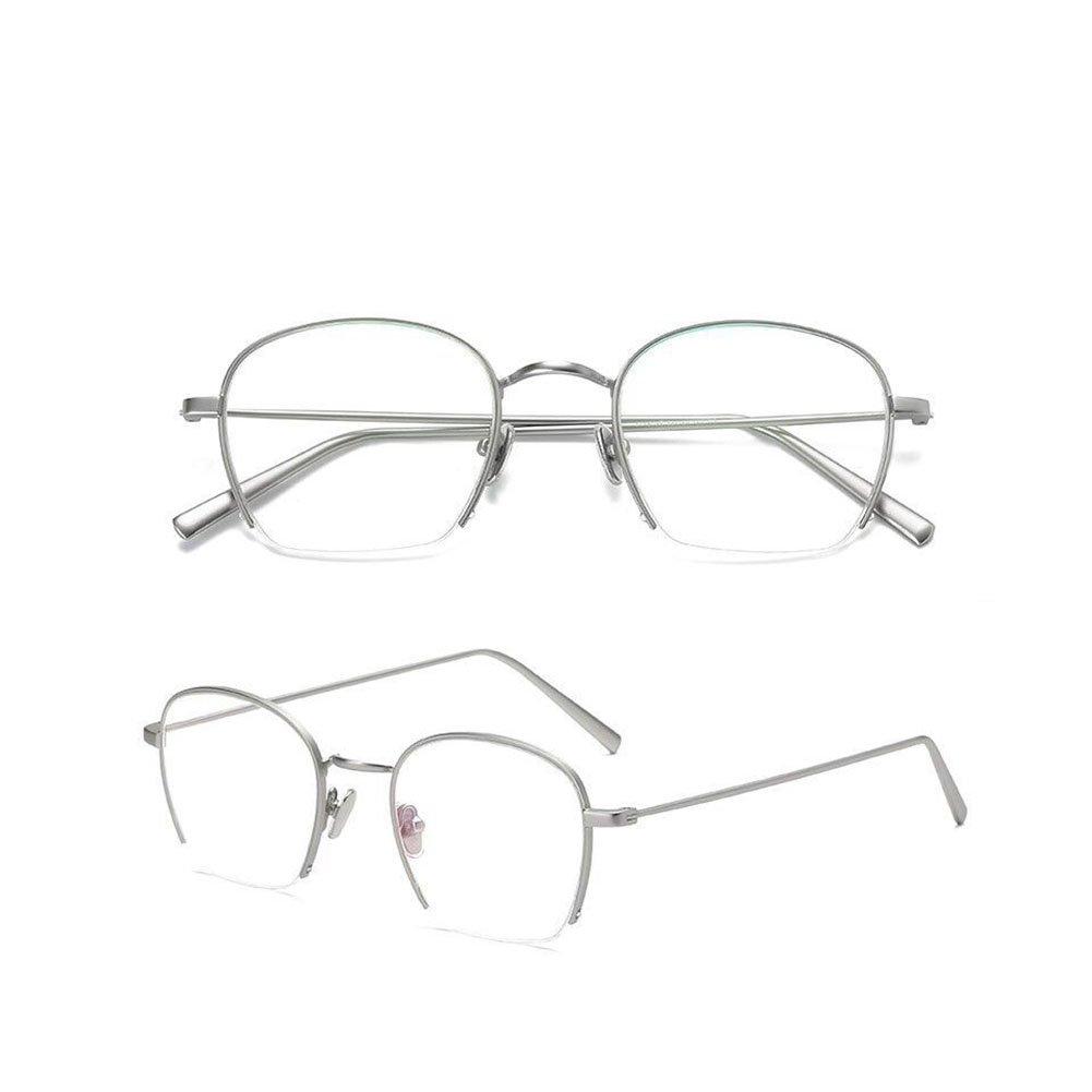 8c5cd59d6c Z HA Teenage Girl Student Glasses Frame Non-Prescription Optical Lenses  Flat Mirror Half Frames Gold-Rimmed Eyeglass Transparent Clear Trends  Ultralight ...