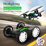 RC Drones for Kids, Drone with 720P Live Camera, Rolytoy Remote Control Off-Road Car Wifi Quadcopter Buggy 360°Flip Flying Cars Headless Mode with 2 Rechargeable Batteries Christmas Gifts