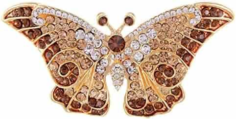 ef6e0c503 Empress Monarch Winged Butterfly Swarovski Crystal Rhinestones Brooch Pin -  Purple, Green, Brown,