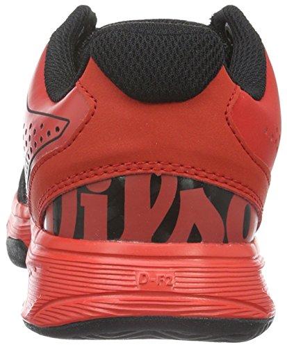 Wilson Kaos Comp Jr Radiant.r/Bk/Radiant.r, Zapatillas De Tenis Unisex Niños Multicolor (Radiant Red X166)