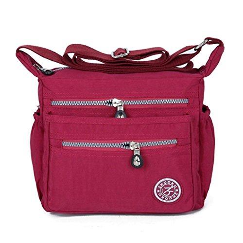 Backpacks Purse Girl Handbag Shoulder Red Purses Theft Messenger Waterproof Bag Strap Anti Bags Lady's BagVEMOW Diagonal Nylon Clutches Women Satchel Vintage Tote Homeless Crossbody Fwq68x