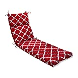 Pillow Perfect Outdoor/Indoor Kobette Chaise Lounge Cushion, Red