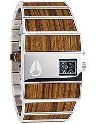 Nixon A028439 rotolog black dial stainless steel bracelet men watch NEW, Teak