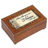 Nana Rich Walnut Finish Petite Jewelry Music Box - Plays Wonderful World