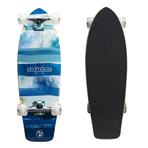 "Kryptonics Super Fat Cruiser 30.5"" Skateboard, Blue Fish"