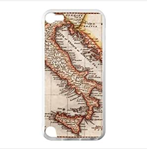 Case - Antique Map of Italy iPod Touch 5 TPU (Laser Technology) Case, Cell iPod TouchCover