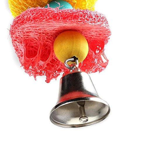 Picture of Cockatoo Toy, FTXJ Parrot Bird Cage Conure Grasp Chew Loofah Sponge Bite-resistant,Random Color