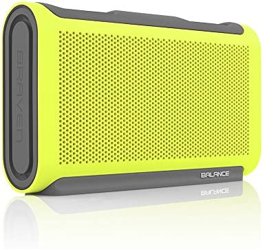 BRAVEN Balance Portable Wireless Bluetooth Speaker 18 Hour Playtime Waterproof Built-in 4000 mAh Power Bank – Retail Packaging – Electric Lime