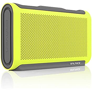 BRAVEN BALANCE Portable Wireless Bluetooth Speaker [18 Hour Playtime][Waterproof] Built-In 4000 mAh Power Bank - Retail Packaging - Electric Lime