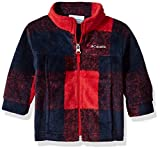 Columbia Baby Boys' Zing III Fleece Jacket, Mountain Red Buffalo Plaid, 18-24 Months