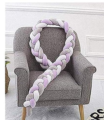 White 15 Li/_unmio Bande de Coussin Longue Boule nou/ée cr/éative Bande Anti-Collision de lit pour Enfants Nordique Simple Size 200 10cm