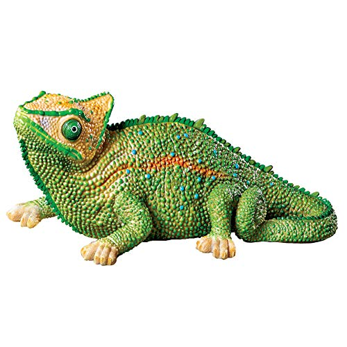 Collections Etc Chameleon Tropical Textured Garden Figurine, Hand-Painted Decoration for Yard or Garden from Collections Etc