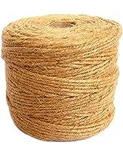 ANSIO Jute touw, 500 voet, Perfect voor Decoratie Tuin Bloemenkunde DIY Arts Bundelen Ambachten & Wrapping 500 ft 6 ply 3 mm - Pack of 1 BRON