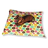 Scattered Floral Patchwork Dog Pillow Luxury Dog Cat Pet Bed