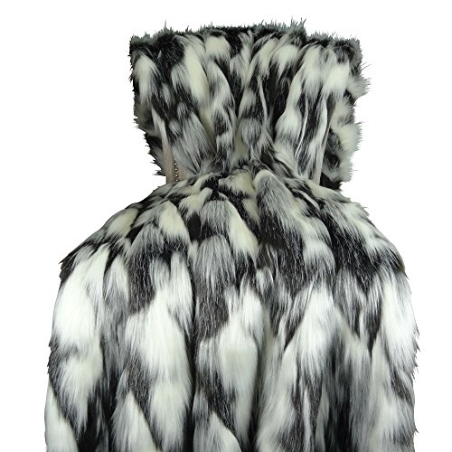 - Thomas Collection Gray Black White Faux Fur Throw Blanket & Bedspread - Tibet Fox Fur - Gray Black White Luxury Faux Fur - Soft Faux Fur Blanket, Handmade in US, 16438