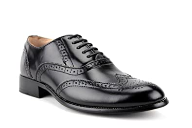 81b51b837713c Majestic Men's 95753 Two-Tone Wing Tip Brogue Formal Lace Up Oxford Dress  Shoes