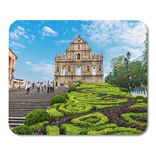 Semtomn Mouse Pad Macau October 22 Ruins of Saint Paul Cathedral Built Mousepad 9.8