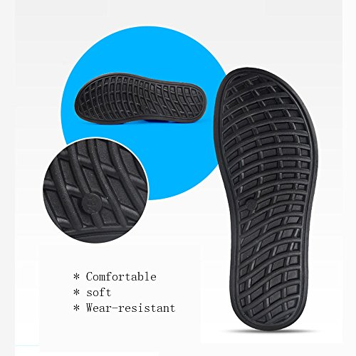 Color Slippers HUO Size New Comfortable Men Shoes UK8 CN43 Soft absorb Version Beach EU42 5 Black Comfortable sweat Fashion Black Hiking Black Outdoor Bottom Korean Sandals UdOFAqfq