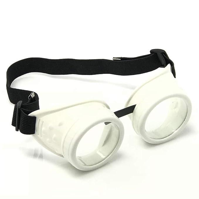 Amazon.com: UV brilla en la oscuridad Steampunk anteojos de ...