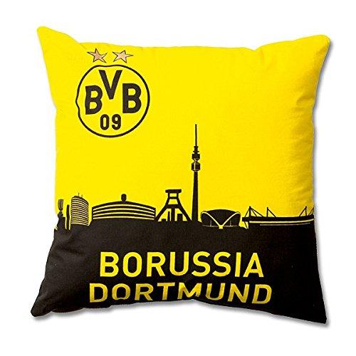 BVB Borussia Dortmund Kissen SKYLINE mit EMBLEM mit STERNEN