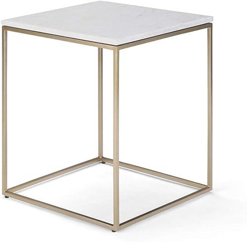 SIMPLIHOME Kline Modern Industrial 18 inch Wide Metal Accent Side Table