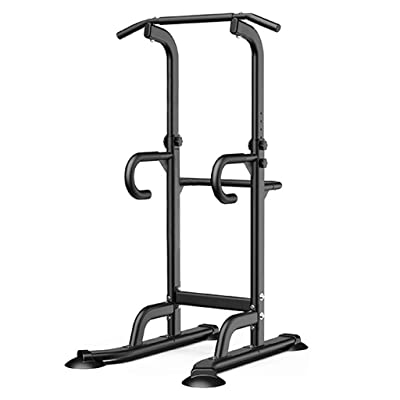 Stamina Power Towers Dip Station Power Tower Pull Up Bar Strength Training Workout Equipment Home Gym (Black): Toys & Games