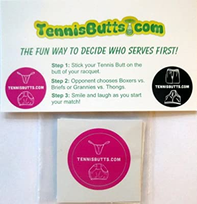 Tennis Butts - Fun Racket Decal That Starts Your Match Off with a Laugh! Perfect Tennis Gift