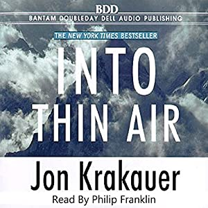 com into thin air audible audio edition jon krakauer  com into thin air audible audio edition jon krakauer philip franklin books on tape books