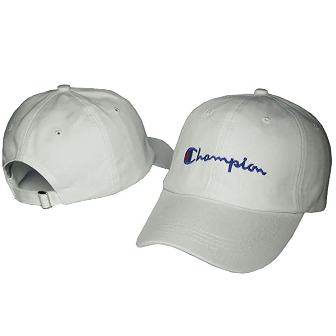 4b606b78 Champions Baseball Cap Men Women Hat Strap Snapback Sports Hats (White)