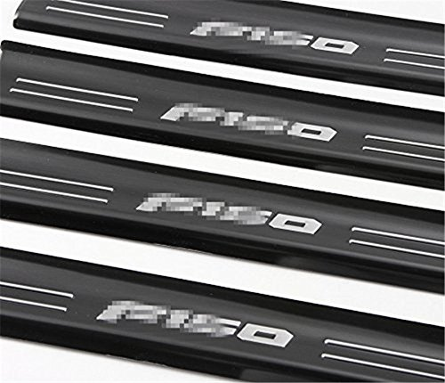 Bestmotoring 4 Door Sill Protector Entry Guard Stainless Steel Scuff Plate for Ford F150 2015 2016 2017 Black