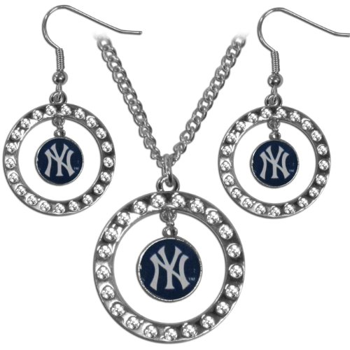 MLB New York Yankees Rhinestone Jewelry Set