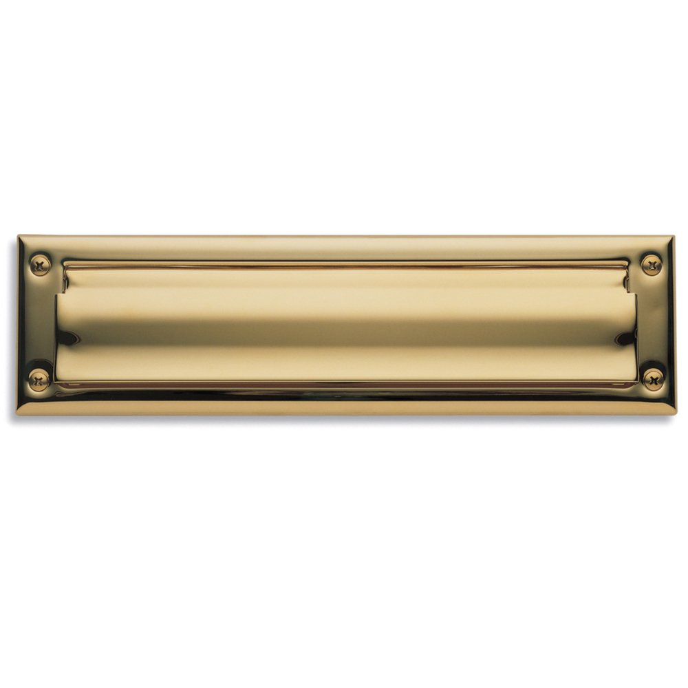 Baldwin Estate 0014.003 Letter Box Plate in Polished Brass, 13'' x 3.625''