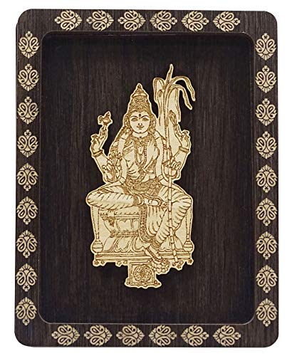 Indianbeautifulart Decorative Goddess Lalitha Wooden Frame Office Table Home Decor Showpiece