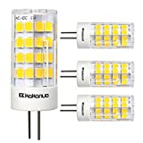 Kakanuo G4 LED Bulb 3.5Watt Warm White 3000K AC/DC 10-18V LED Corn Light Non-dimmable 512835SMD LEDs(Pack of 4)