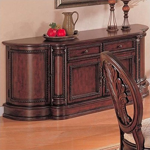 Coaster Home Furnishings 101034B Traditional Buffet, Dark - Cabinet Traditional China