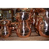 COPPER STEAMER POT - Hand hammered solid copper couscous pot -steamer pot - copper steaming pot (14 cm)